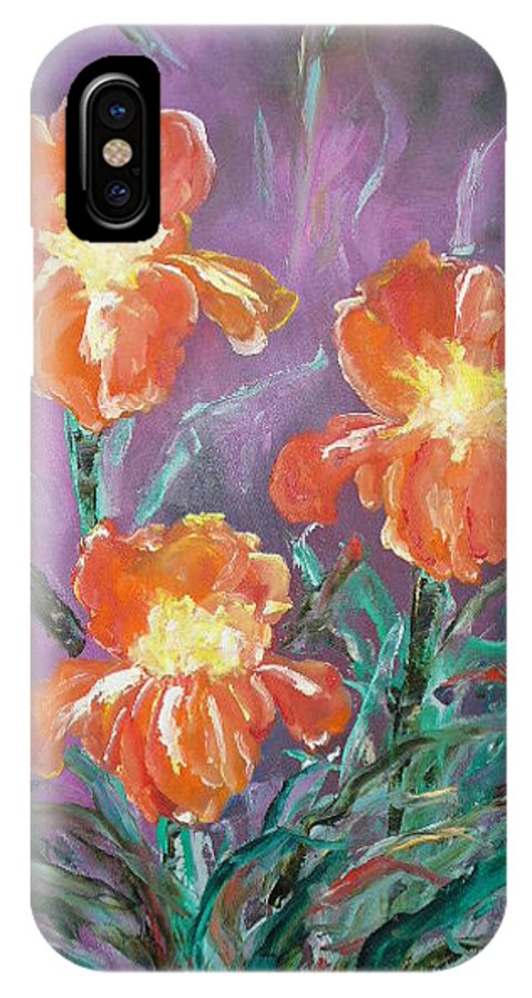 Iris IPhone X Case featuring the painting Iris by Lord Frederick Lyle Morris - Disabled Veteran