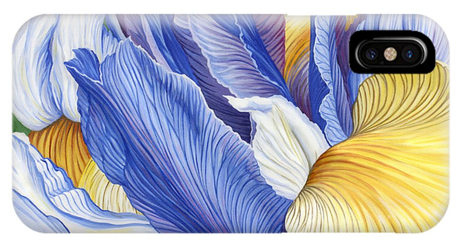 Iris IPhone X / XS Case featuring the painting Iris by Jane Girardot