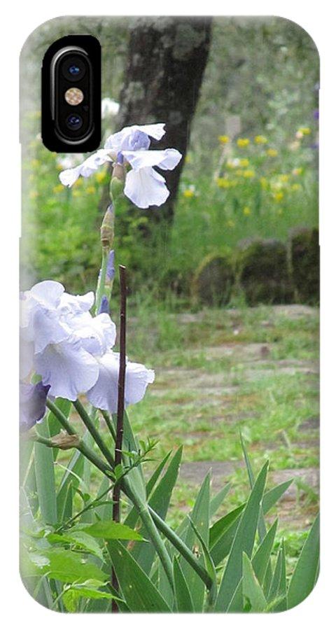Iris IPhone X Case featuring the photograph Iris On The Path by Iris Prints