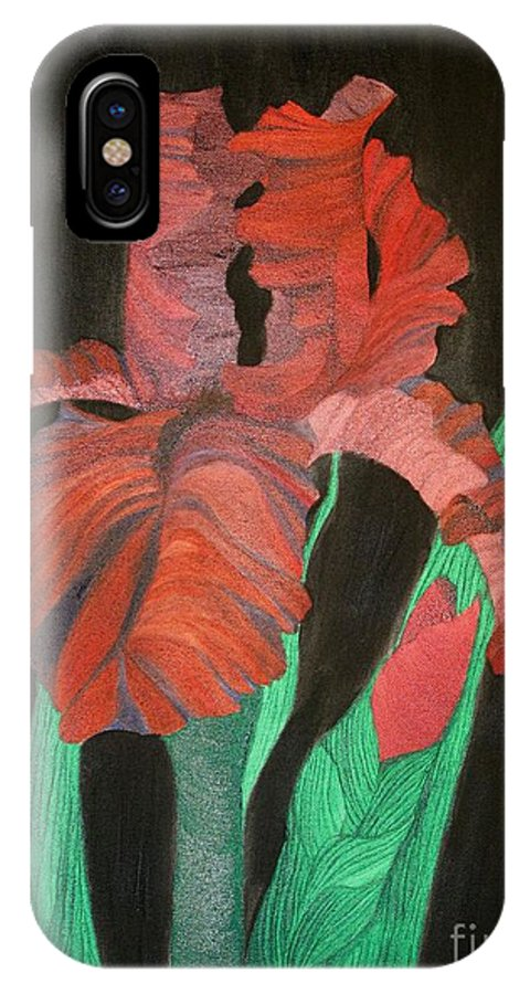 Iris IPhone X Case featuring the painting Iris by Richard Dotson