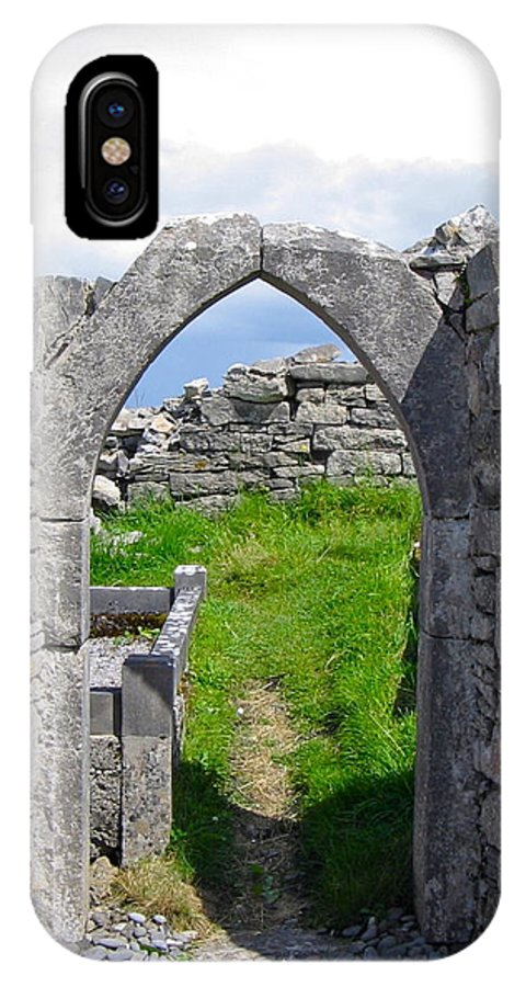 The Seven Churches IPhone X Case featuring the photograph Irish Church Ruins by Denise Mazzocco