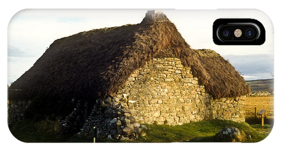 Irish IPhone X Case featuring the photograph Irish Hut by Douglas Barnett