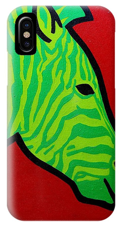 Irish IPhone X Case featuring the painting Irish Zebra by John Nolan