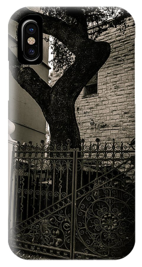 Architecture IPhone X Case featuring the photograph Iron And Bark by Melinda Ledsome
