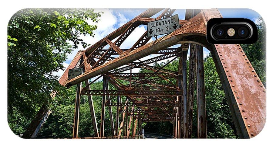 Bridge IPhone X Case featuring the photograph Iron Bridge by Pittsburgh Photo Company