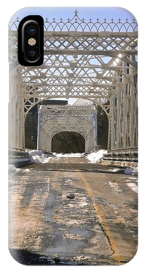 Bridges IPhone X Case featuring the photograph Iron Bridges by Stephanie Moore