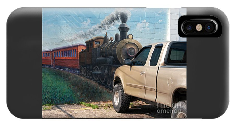 Steam Engine IPhone X Case featuring the photograph Iron Horsepower by Ann Horn