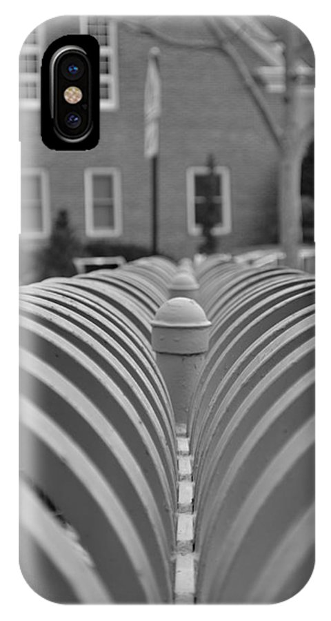 Black And White IPhone X Case featuring the photograph Iron-work by Evan Legere