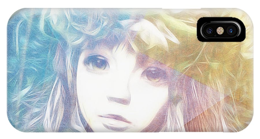Girl IPhone X Case featuring the digital art Isangelle Clariscendre by Barbara Orenya