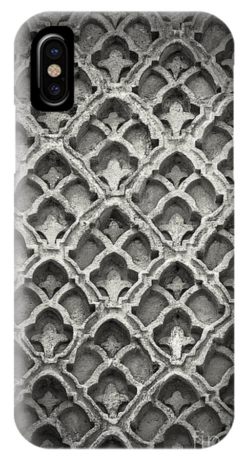 Istanbul IPhone X / XS Case featuring the photograph Islamic Art Stone Texture by Antony McAulay