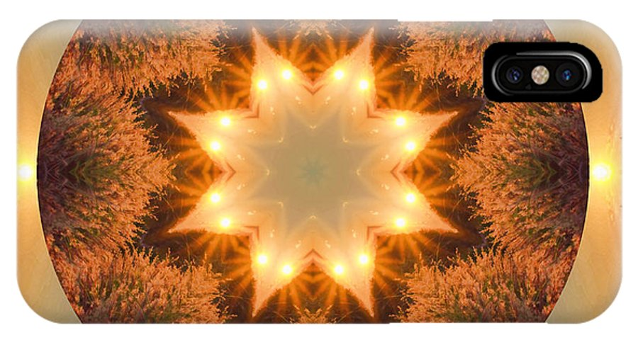 Mandala IPhone X Case featuring the photograph Island Beach Sunset Mandala by Beth Sawickie