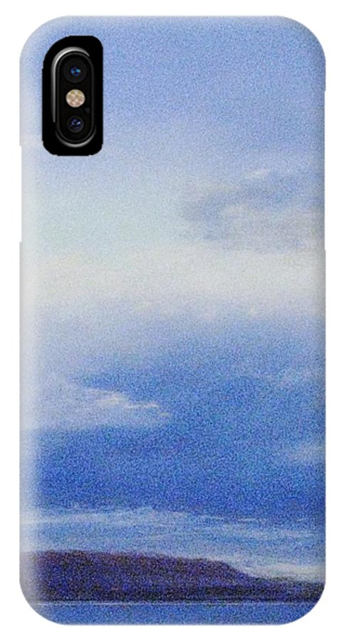 Island Cloud Scene IPhone X Case featuring the painting Island Blues by Pamela Heward