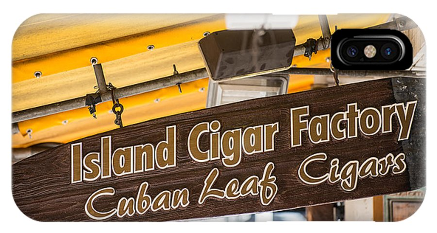 America IPhone X Case featuring the photograph Island Cigar Factory Key West by Ian Monk