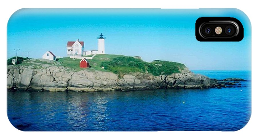 Lighthouse IPhone X Case featuring the photograph Island Lighthouse by Jeffery L Bowers