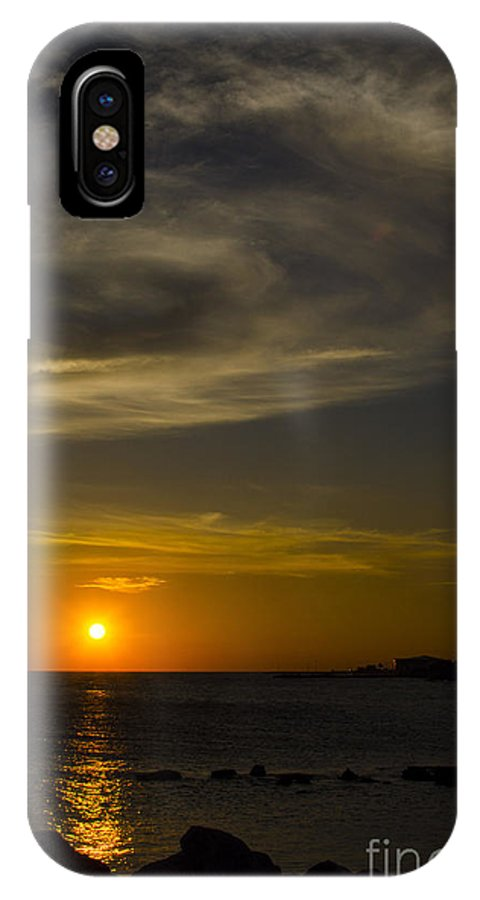 Curacao IPhone X Case featuring the photograph Island Sunset by Jerry Hart