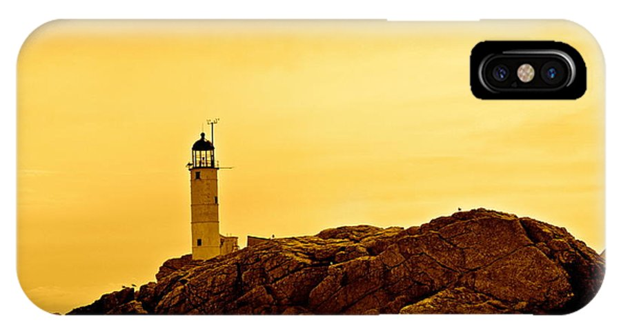 Isles Of Shoals IPhone X Case featuring the photograph Isles Of Shoals by Mark Prescott Crannell
