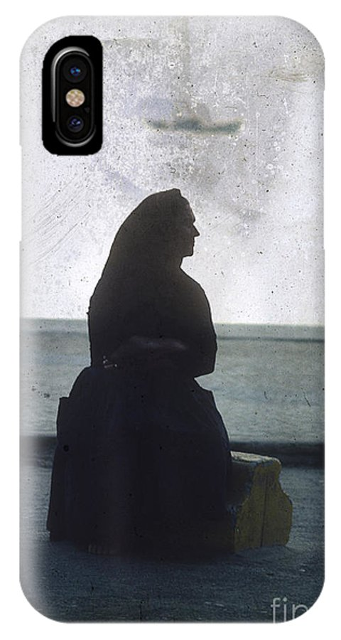 Outdoors IPhone X Case featuring the photograph Isolated Woman by Bernard Jaubert