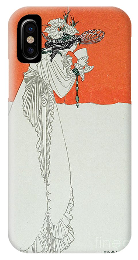 Yseult Buvant Le Poison IPhone X Case featuring the painting Isolde Drinking The Poison by Aubrey Beardsley