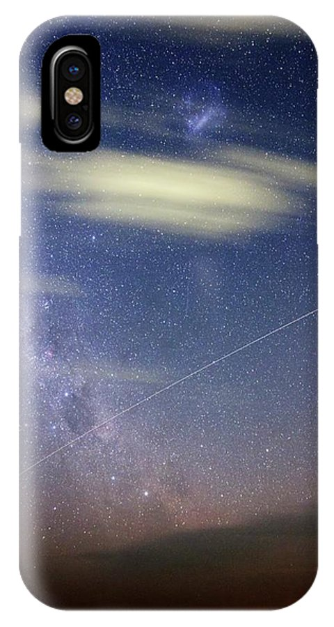 International Space Station IPhone X Case featuring the photograph Iss In Southern Hemisphere Skies by Luis Argerich
