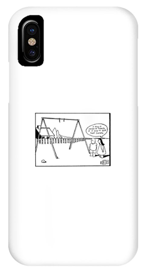 Music IPhone X Case featuring the drawing 'it Don't Mean A Thing If It Ain't Got That by Bruce Eric Kaplan