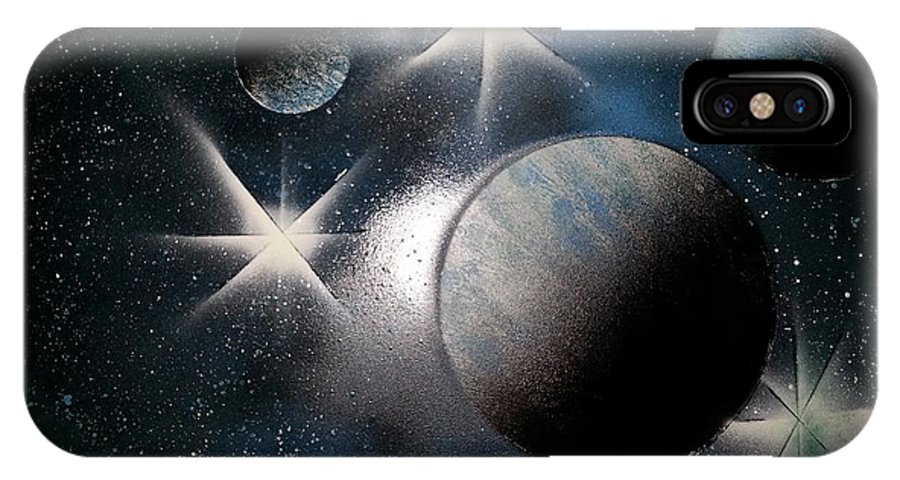 Planet IPhone X Case featuring the painting It Is Beyond Of What You Simply See by Martin Vera