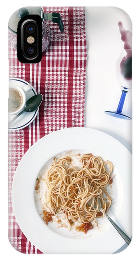 Food IPhone X Case featuring the photograph Italian Food by Joana Kruse