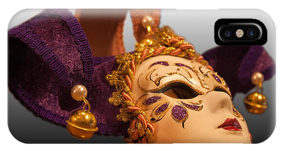Mask IPhone X Case featuring the photograph Italian Masquerade by Michael Porchik