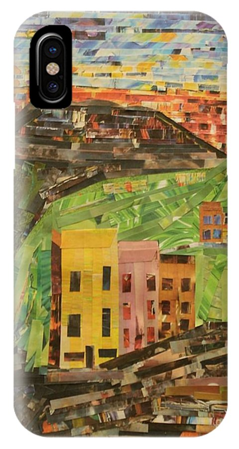 Italian Village IPhone X Case featuring the mixed media Italian Village by Mary Chris Hines