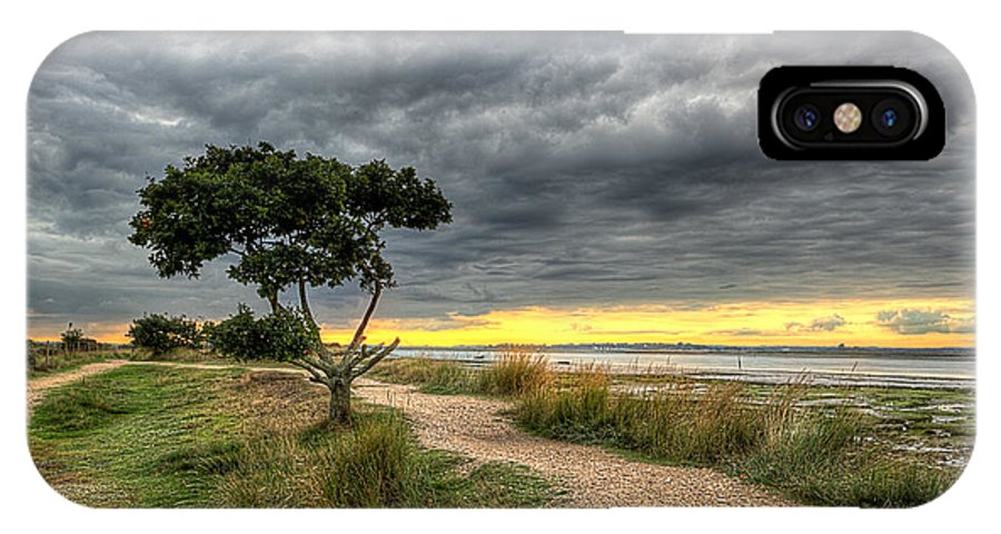 IPhone X Case featuring the photograph Itchenor West Sussex Hdr by Graham Markham