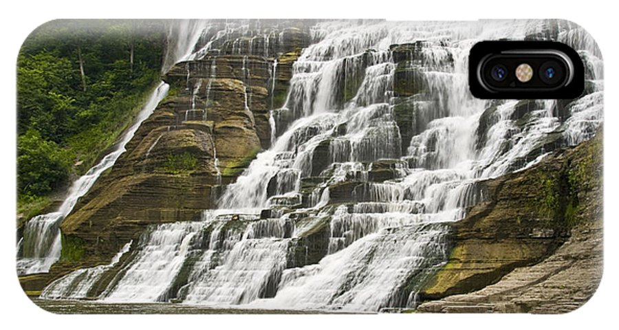 Ithaca Falls IPhone X Case featuring the photograph Ithaca Falls by Anthony Sacco