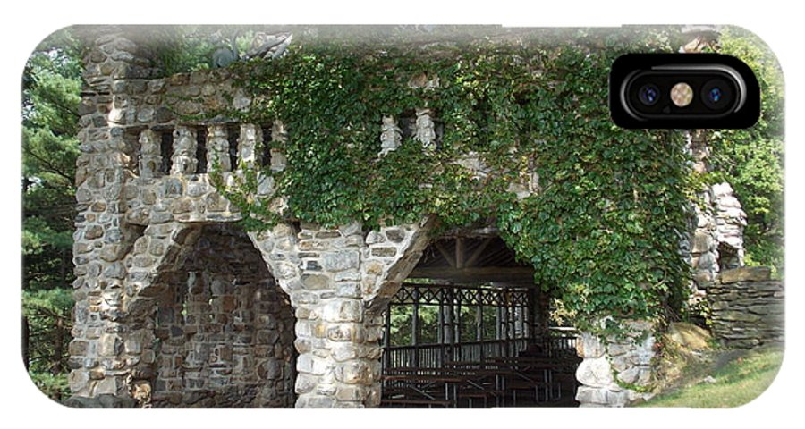 Stone Work IPhone X Case featuring the photograph Ivy Covered Stone Wall by Catherine Gagne