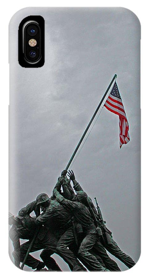 Arlington National Cemetery IPhone X Case featuring the photograph Iwo Raise by Joseph Semary