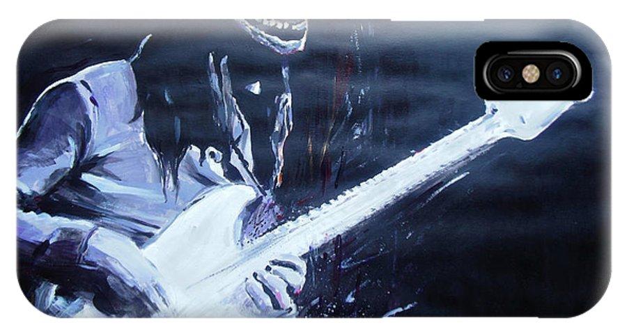 Jaco Pastorius IPhone X Case featuring the painting Jaco Pastorius by Lucia Hoogervorst