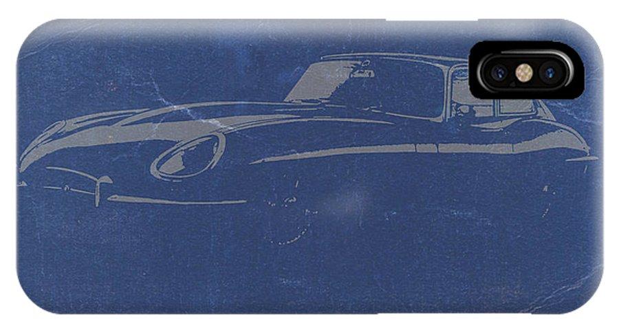 Jaguar E Type IPhone X Case featuring the photograph Jaguar E Type by Naxart Studio