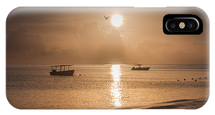 Ocean IPhone X Case featuring the photograph Jamaican Sunrise by Nick Jaramillo