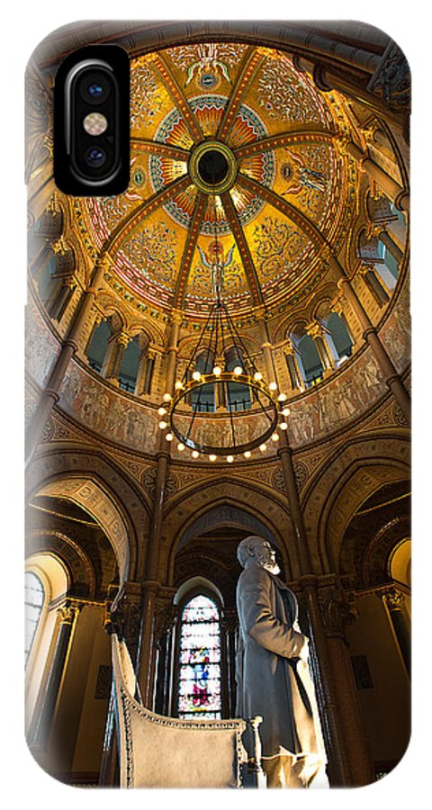 James A Garfield IPhone X / XS Case featuring the photograph James A Garfield Monument by Dale Kincaid