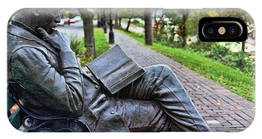 James Bradley Statue IPhone X Case featuring the photograph James Bradley Statue 9882 by Jack Schultz