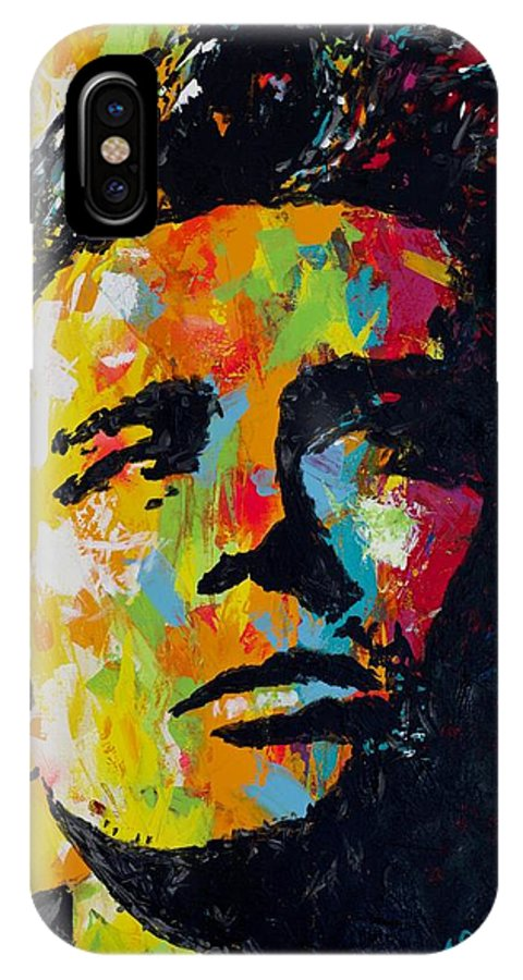 James Byron Dean IPhone X Case featuring the painting James Byron Dean by Joyce Sherwin