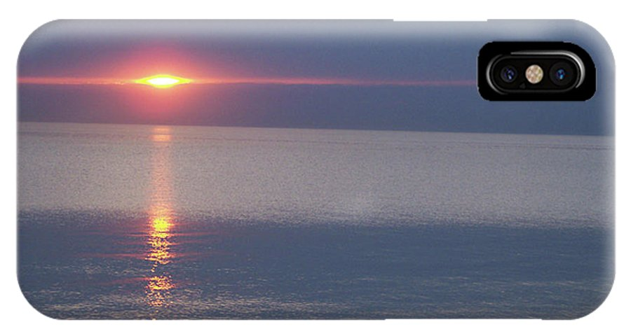 First Star IPhone X Case featuring the photograph Flash Sunset Lake Huron By Jammer by First Star Art