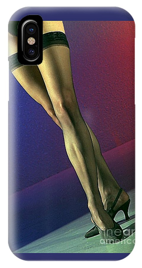 Model IPhone X Case featuring the photograph Jane Legs 1-1 by Gary Gingrich Galleries