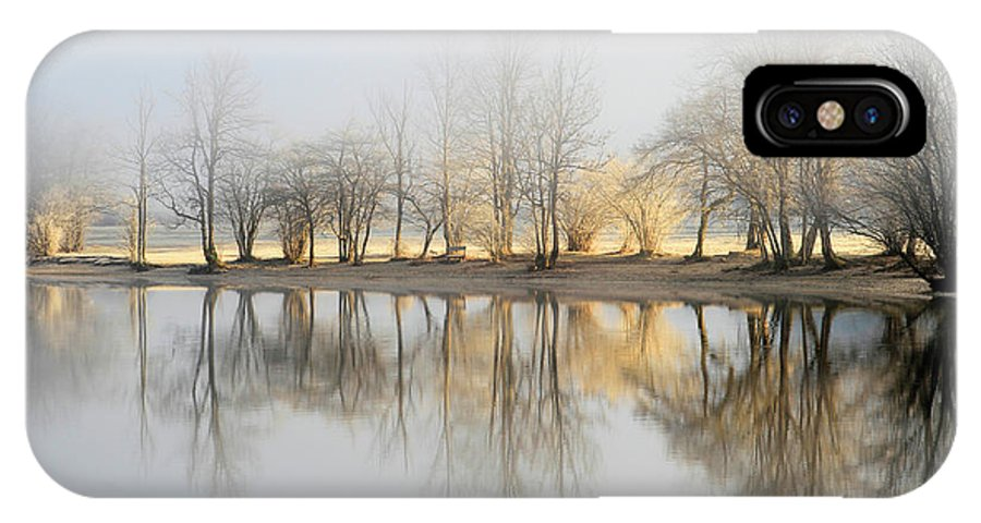 Morning IPhone X Case featuring the photograph January Morning by Bor