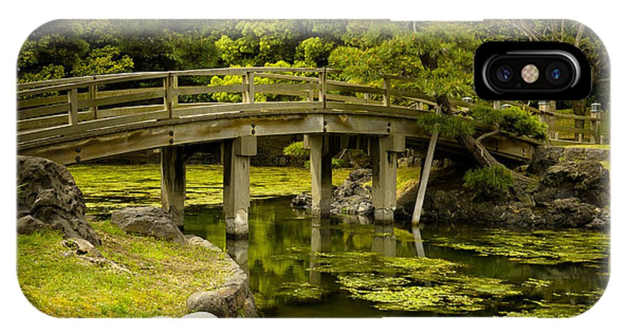 Japan IPhone X Case featuring the photograph Japanese Garden Tokyo by Sebastian Musial
