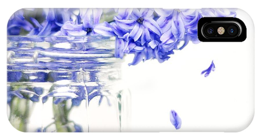 Flowers IPhone X Case featuring the photograph Jar Of Purple Hyacinth by Diana Angstadt