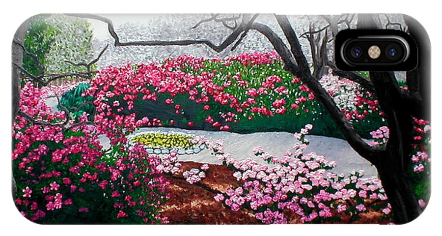 Jasmine Hill Gardens IPhone X Case featuring the painting Jasmine Hill Gardens by Beth Parrish