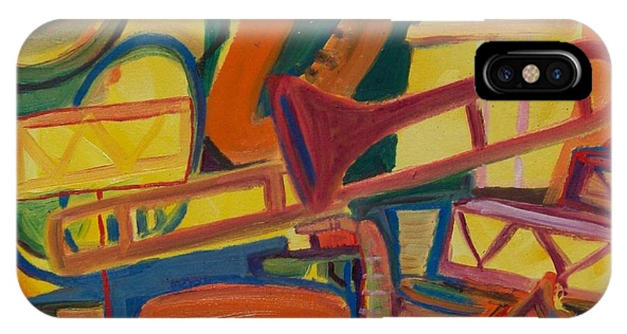James Christiansen IPhone X Case featuring the painting Jazz Squared by James Christiansen