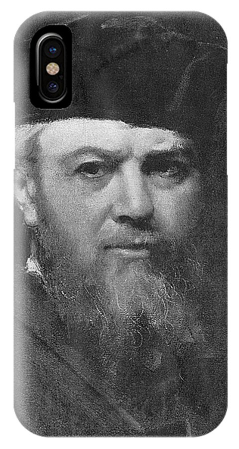 Henner IPhone X Case featuring the photograph Jean-jacques Henner (1829-1905) French by Mary Evans Picture Library