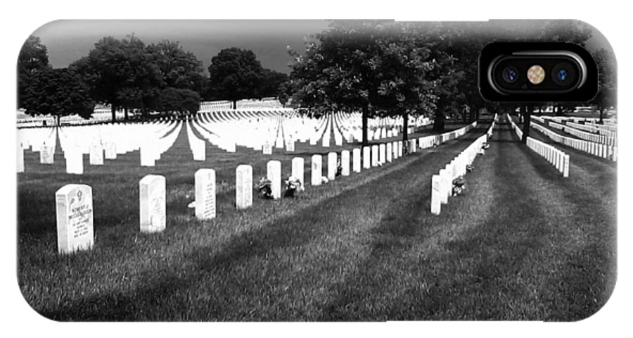 Jefferson Barracks National Cemetery IPhone X Case featuring the photograph Jefferson Barracks National Cemetery by M Landis