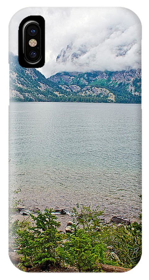 Jenny Lake In Grand Teton National Park IPhone X Case featuring the photograph Jenny Lake In Grand Tetons National Park-wyoming by Ruth Hager