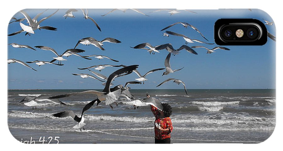 Bird IPhone X Case featuring the photograph Jeremiah 4.25 by Nelson Skinner