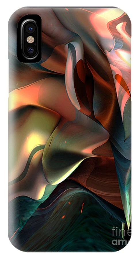 Painter IPhone X Case featuring the painting Jerome Bosch Atmosphere by Christian Simonian